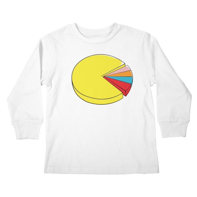 Pacman Pie Chart Kids Longsleeve T-Shirt by DavidBS