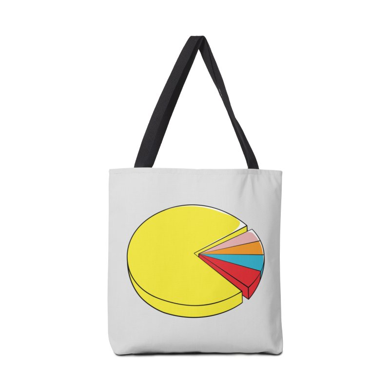 Pacman Pie Chart Accessories Tote Bag Bag by DavidBS