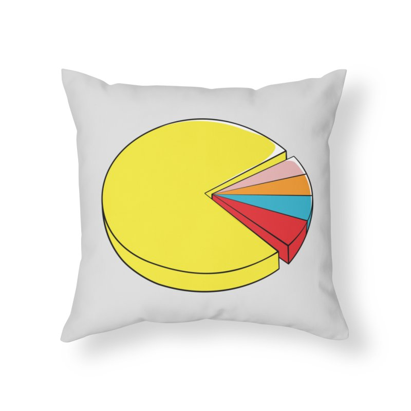 Pacman Pie Chart Home Throw Pillow by DavidBS