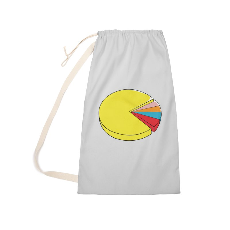 Pacman Pie Chart Accessories Laundry Bag Bag by DavidBS