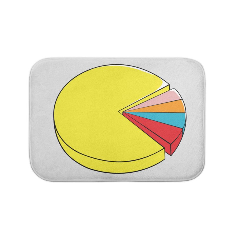 Pacman Pie Chart Home Bath Mat by DavidBS