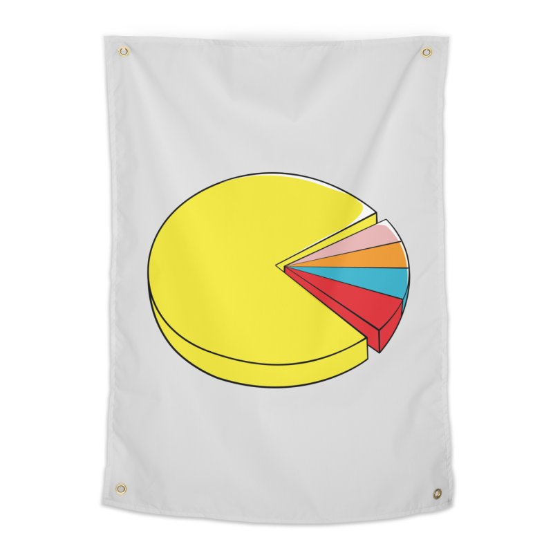Pacman Pie Chart Home Tapestry by DavidBS