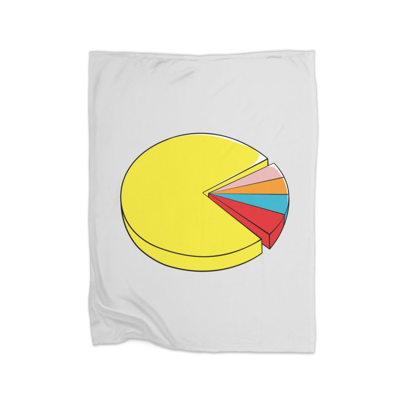 Pacman Pie Chart Home Fleece Blanket Blanket by DavidBS
