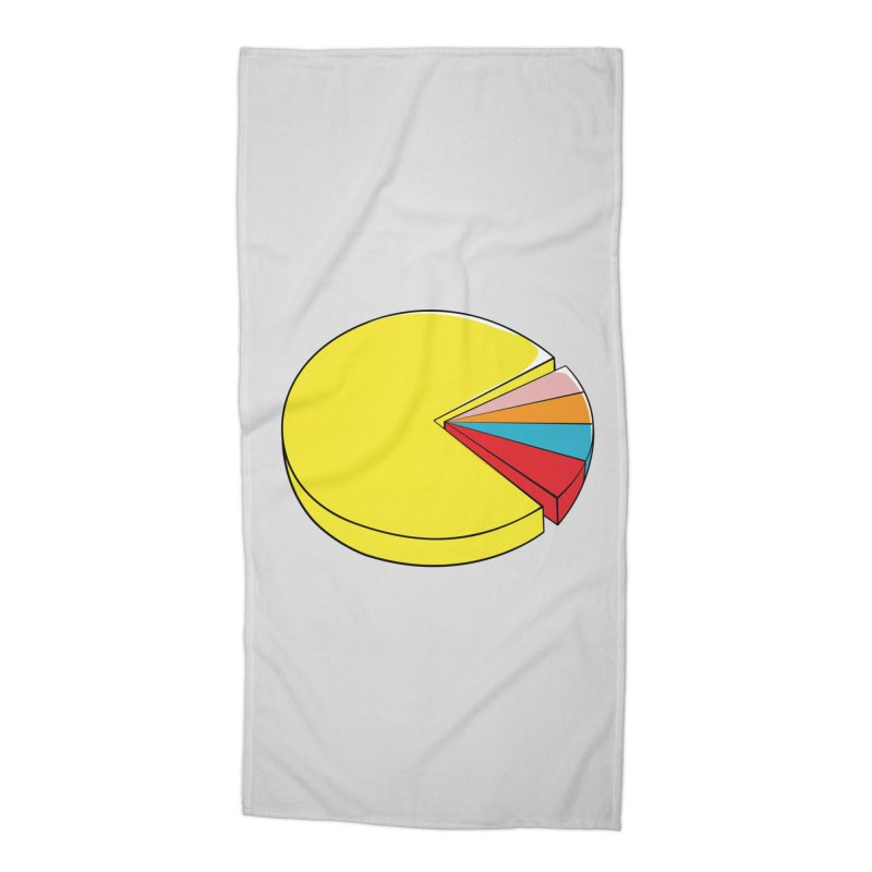 Pacman Pie Chart Accessories Beach Towel by DavidBS