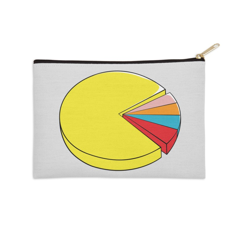 Pacman Pie Chart Accessories Zip Pouch by DavidBS