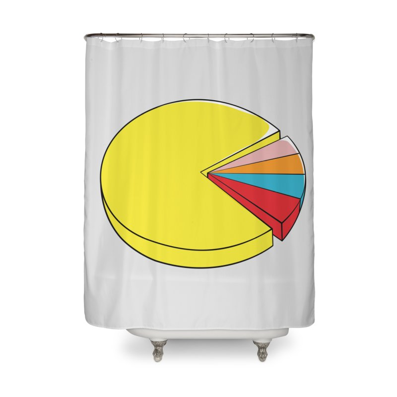 Pacman Pie Chart Home Shower Curtain by DavidBS