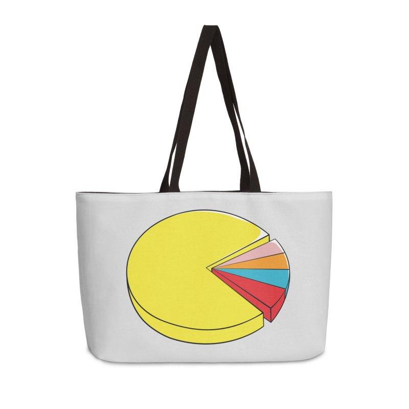 Pacman Pie Chart Accessories Weekender Bag Bag by DavidBS