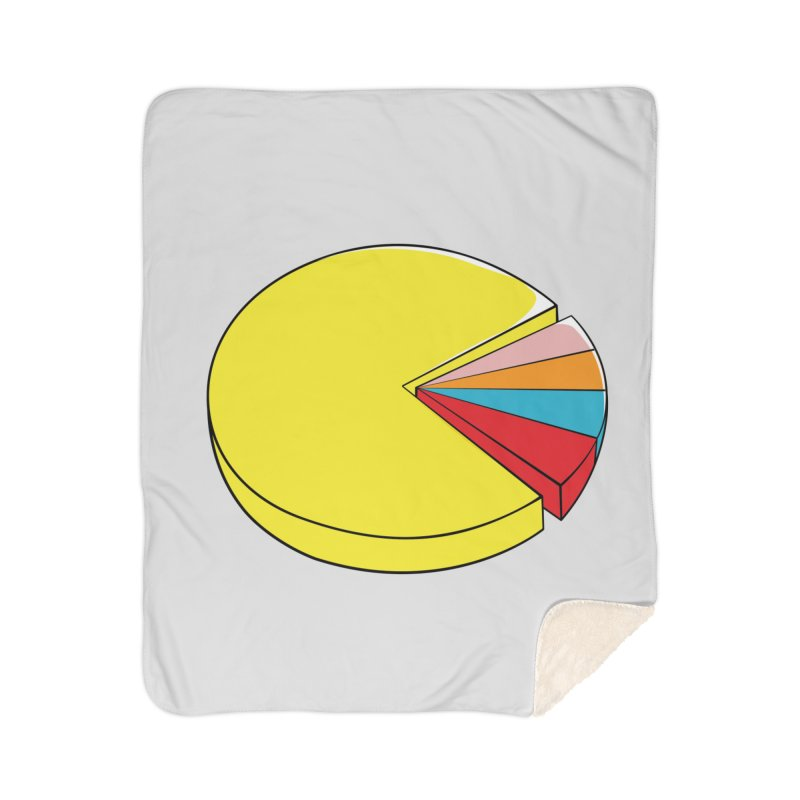 Pacman Pie Chart Home Blanket by DavidBS