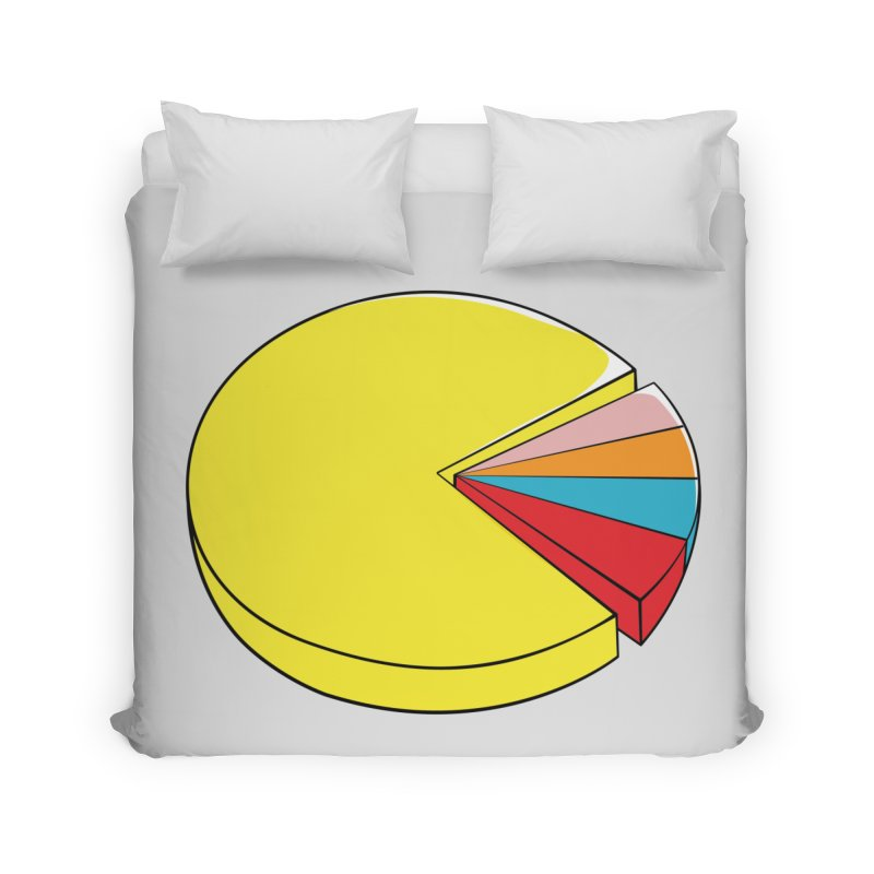 Pacman Pie Chart Home Duvet by DavidBS
