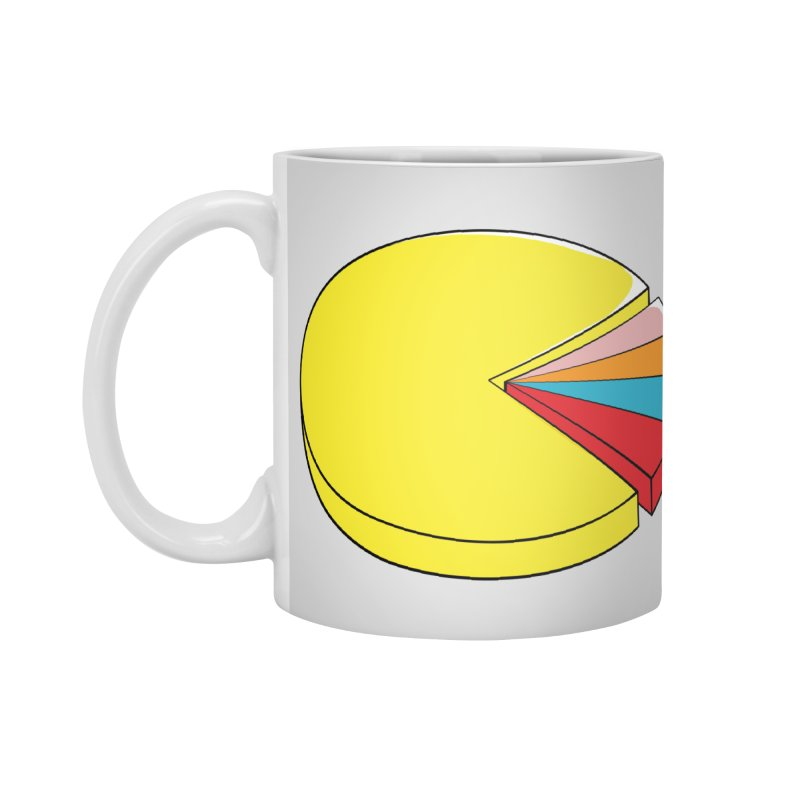Pacman Pie Chart Accessories Standard Mug by DavidBS