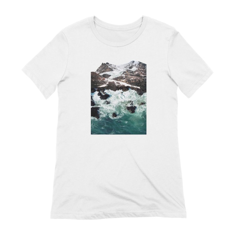 Sea and Mountains Women's Extra Soft T-Shirt by DavidBS