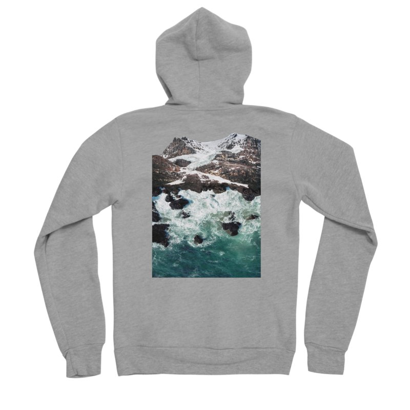 Sea and Mountains Women's Sponge Fleece Zip-Up Hoody by DavidBS