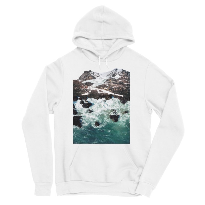 Sea and Mountains Men's Sponge Fleece Pullover Hoody by DavidBS