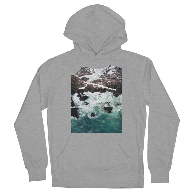 Sea and Mountains Men's French Terry Pullover Hoody by DavidBS