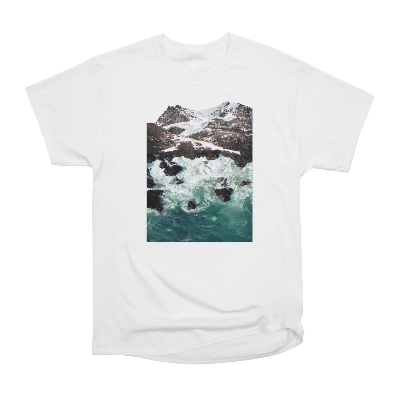 Sea and Mountains Men's Heavyweight T-Shirt by DavidBS