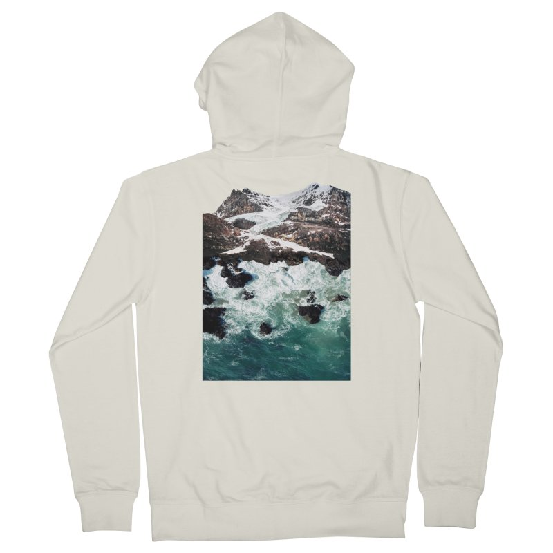 Sea and Mountains Men's French Terry Zip-Up Hoody by DavidBS