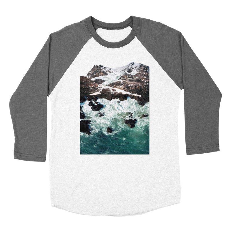 Sea and Mountains Women's Baseball Triblend T-Shirt by DavidBS