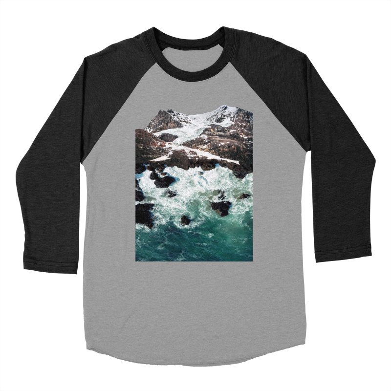 Sea and Mountains Women's Baseball Triblend Longsleeve T-Shirt by DavidBS
