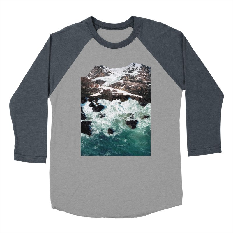 Sea and Mountains Men's Baseball Triblend Longsleeve T-Shirt by DavidBS