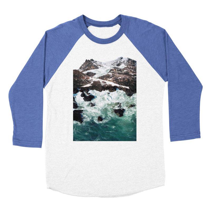 Sea and Mountains Men's Baseball Triblend T-Shirt by DavidBS