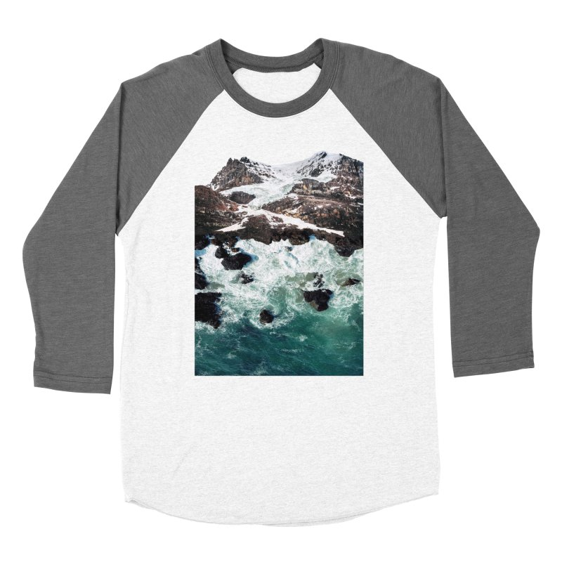 Sea and Mountains Men's Baseball Triblend T-Shirt by DavidBS