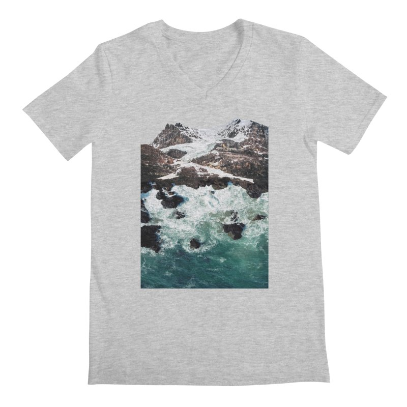 Sea and Mountains Men's Regular V-Neck by DavidBS