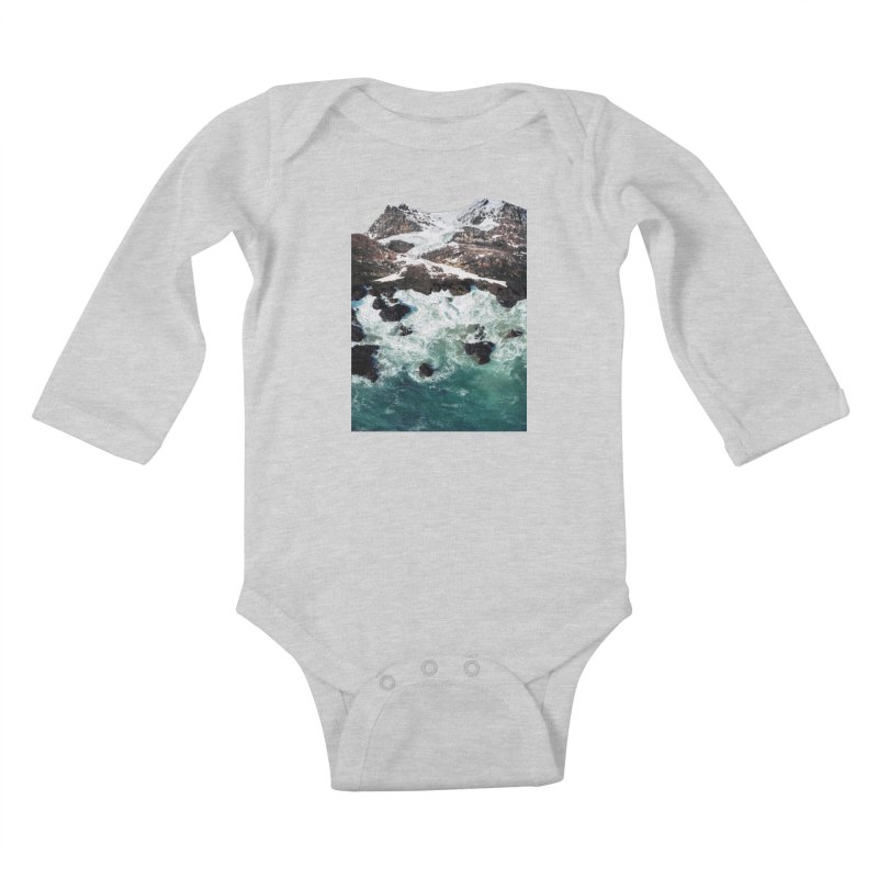 Sea and Mountains Kids Baby Longsleeve Bodysuit by DavidBS
