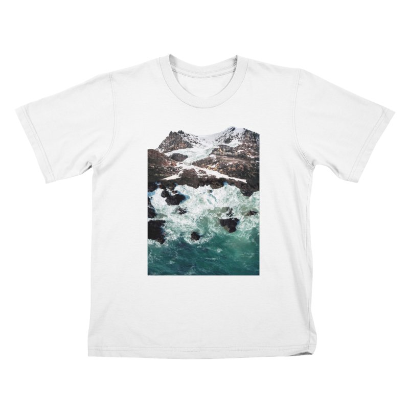 Sea and Mountains Kids T-Shirt by DavidBS