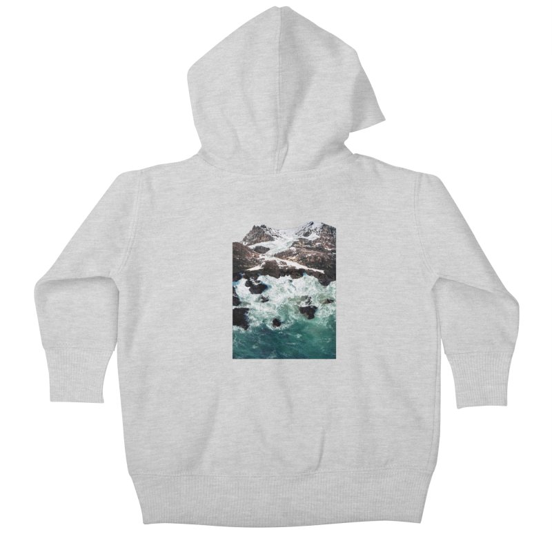 Sea and Mountains Kids Baby Zip-Up Hoody by DavidBS