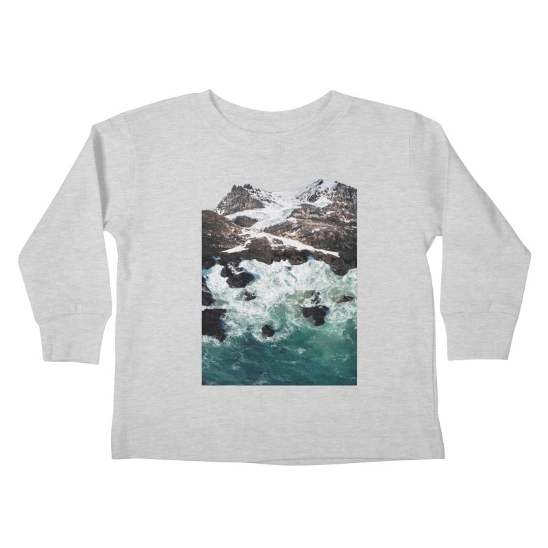 Sea and Mountains Kids Toddler Longsleeve T-Shirt by DavidBS