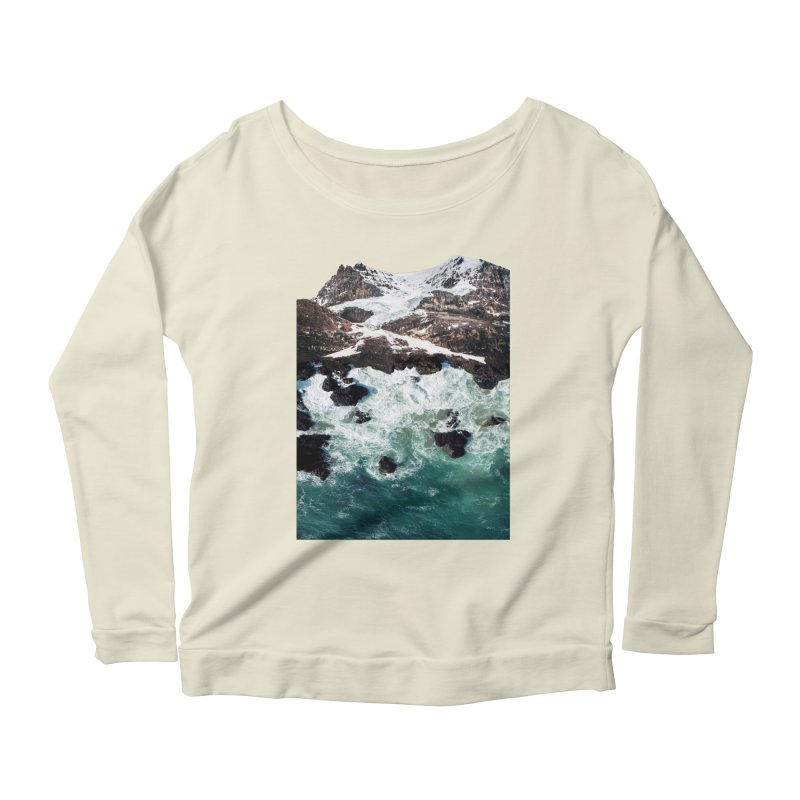 Sea and Mountains Women's Longsleeve Scoopneck  by DavidBS