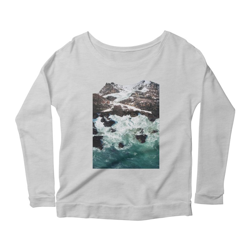 Sea and Mountains Women's Scoop Neck Longsleeve T-Shirt by DavidBS