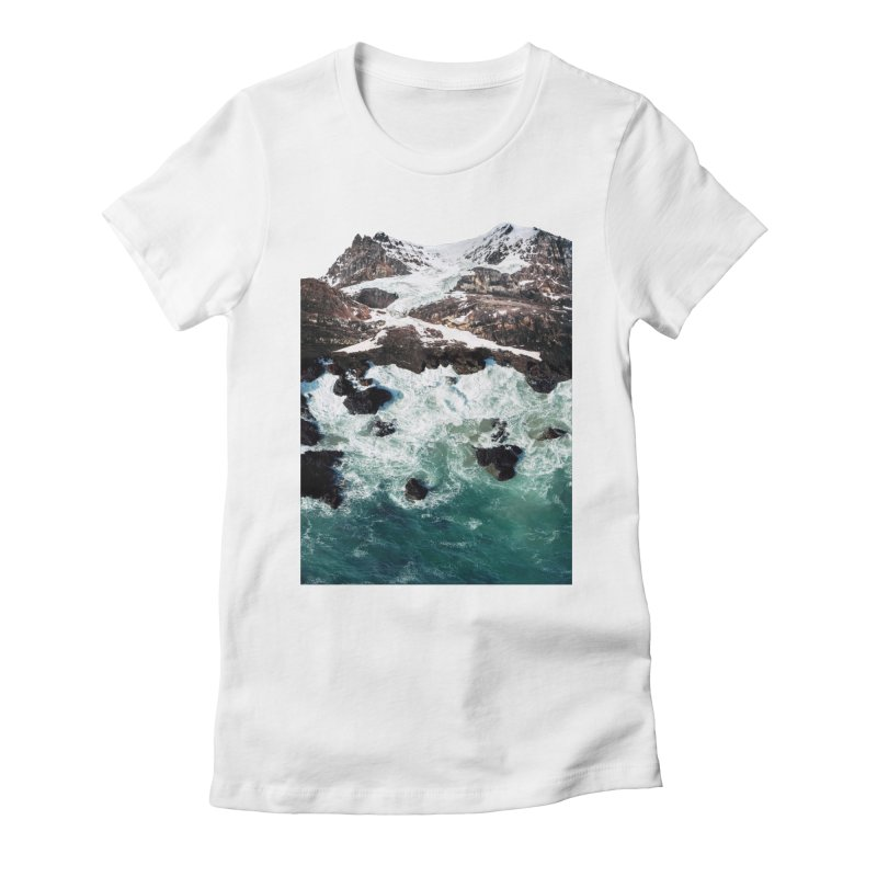 Sea and Mountains Women's Fitted T-Shirt by DavidBS