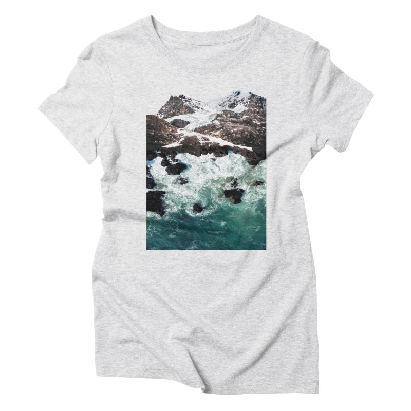 Sea and Mountains Women's Triblend T-shirt by DavidBS