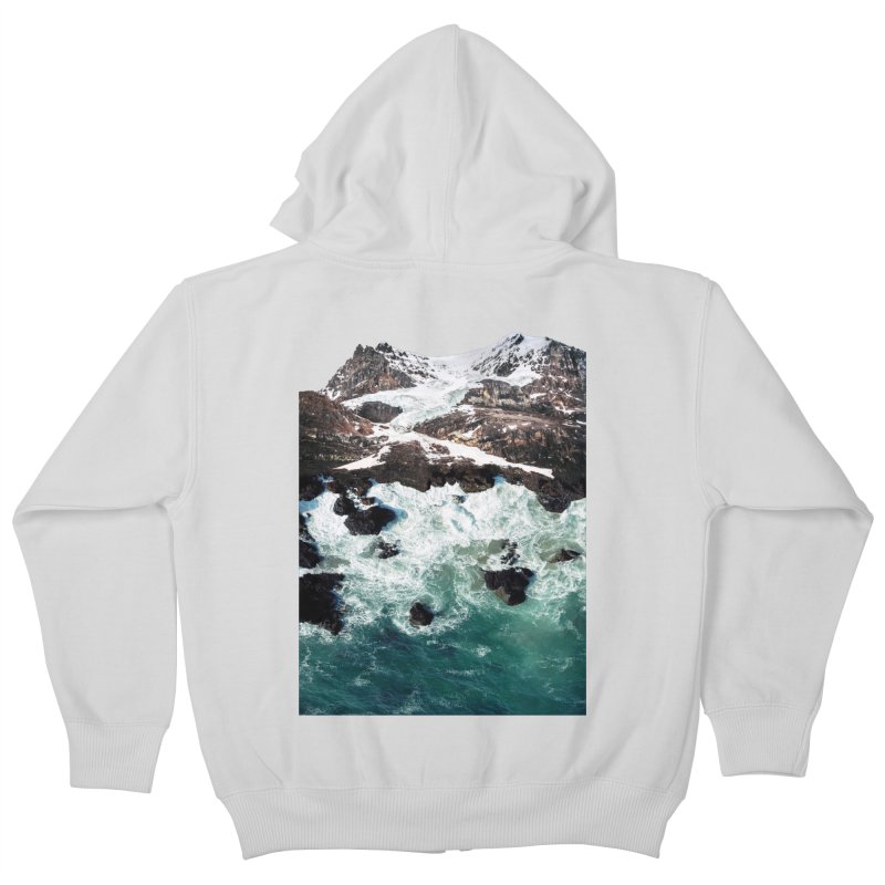 Sea and Mountains Kids Zip-Up Hoody by DavidBS