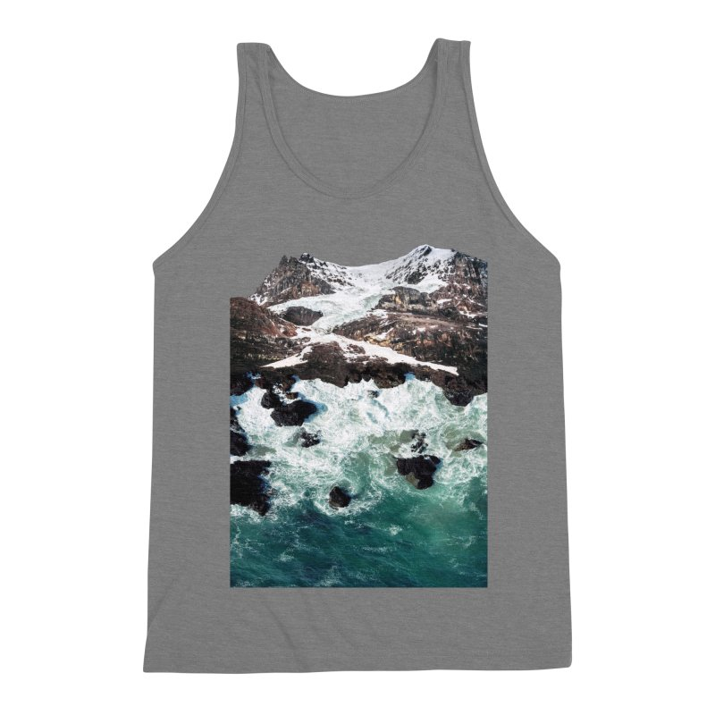 Sea and Mountains Men's Triblend Tank by DavidBS