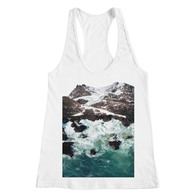 Sea and Mountains Women's Racerback Tank by DavidBS