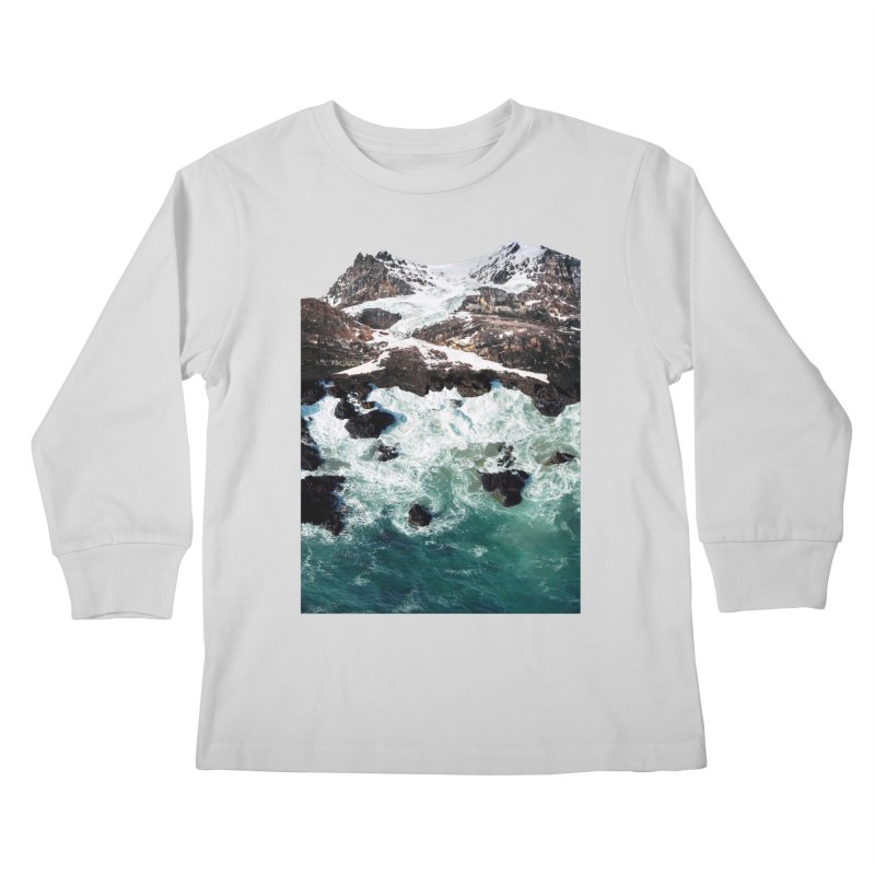 Sea and Mountains Kids Longsleeve T-Shirt by DavidBS