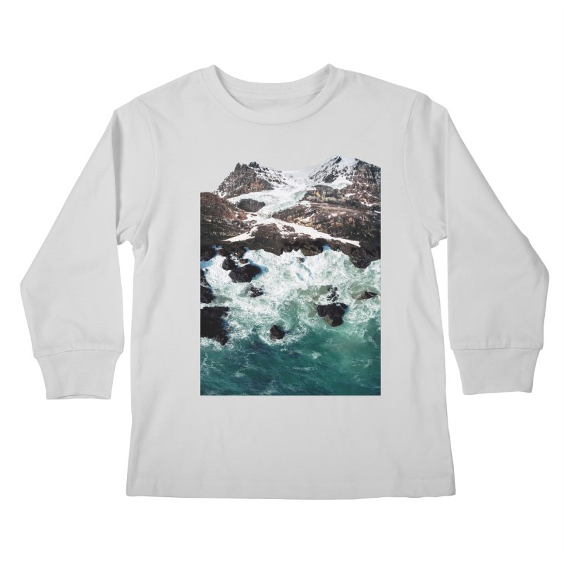 Sea and Mountains Kids Longsleeve T-Shirt by DavidBS