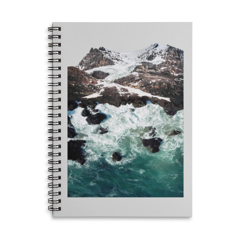 Sea and Mountains Accessories Lined Spiral Notebook by DavidBS