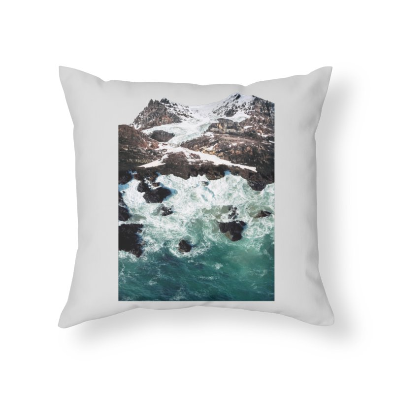 Sea and Mountains Home Throw Pillow by DavidBS