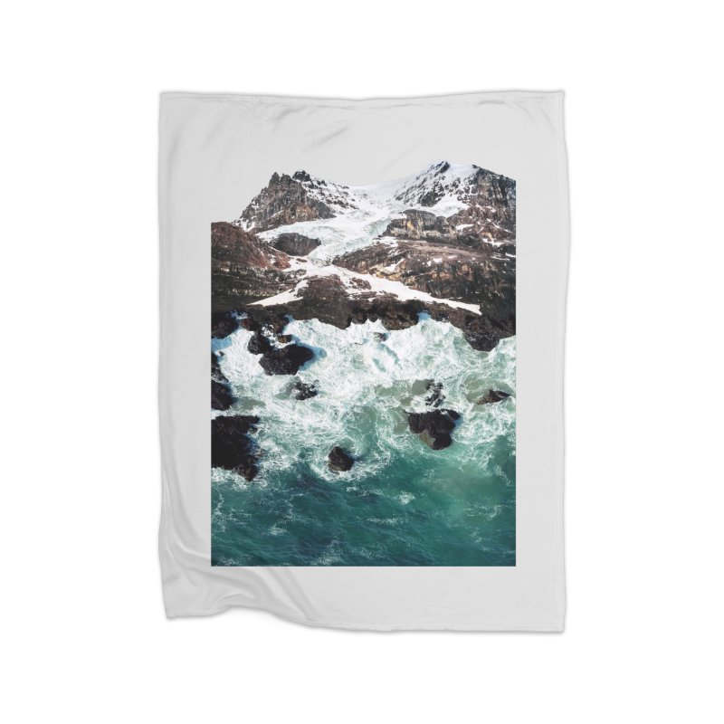 Sea and Mountains Home Fleece Blanket Blanket by DavidBS