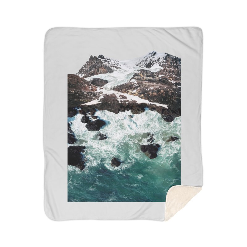 Sea and Mountains Home Sherpa Blanket Blanket by DavidBS