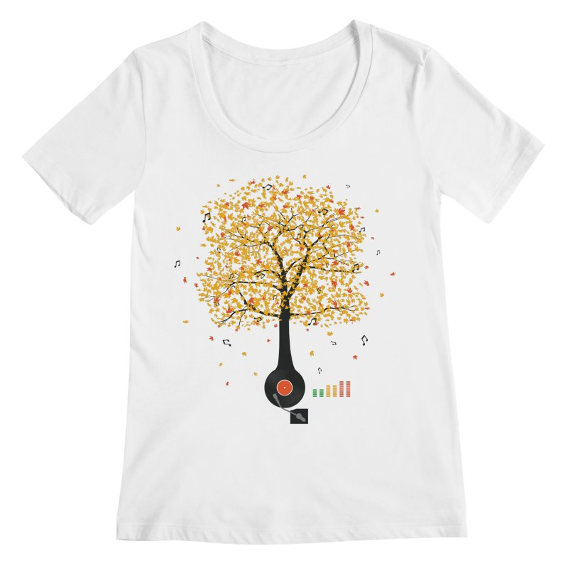 Sounds of Nature Women's Regular Scoop Neck by DavidBS