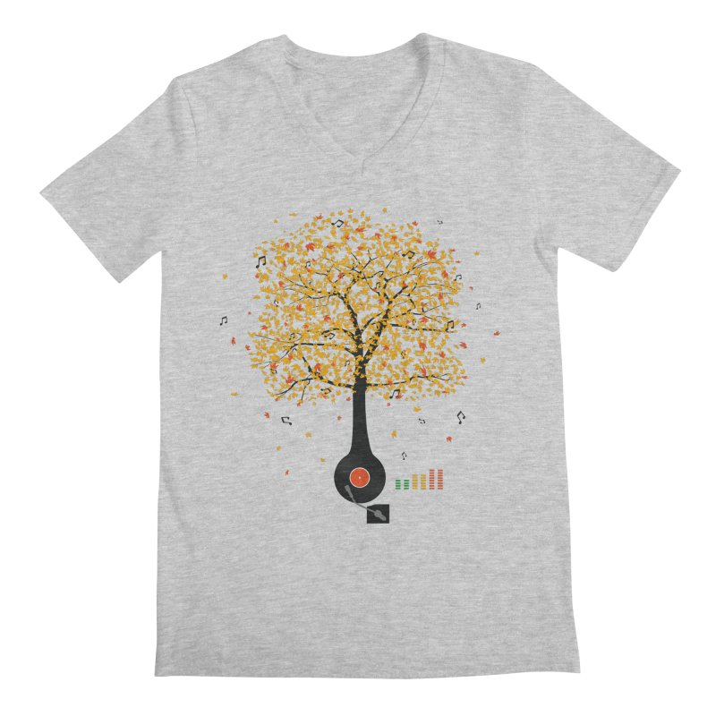 Sounds of Nature Men's Regular V-Neck by DavidBS