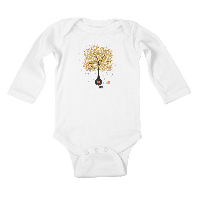 Sounds of Nature Kids Baby Longsleeve Bodysuit by DavidBS