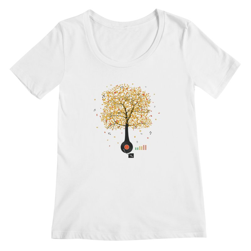 Sounds of Nature Women's Scoopneck by DavidBS