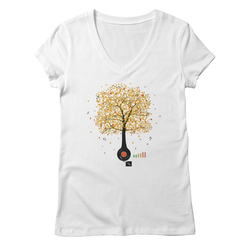 Sounds of Nature Women's Regular V-Neck by DavidBS