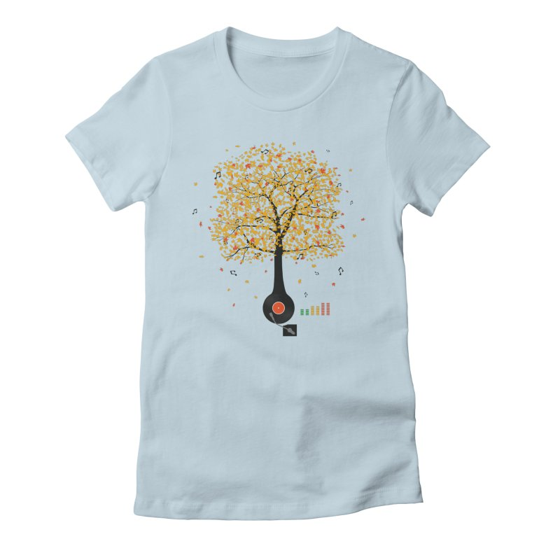 Sounds of Nature Women's Fitted T-Shirt by DavidBS