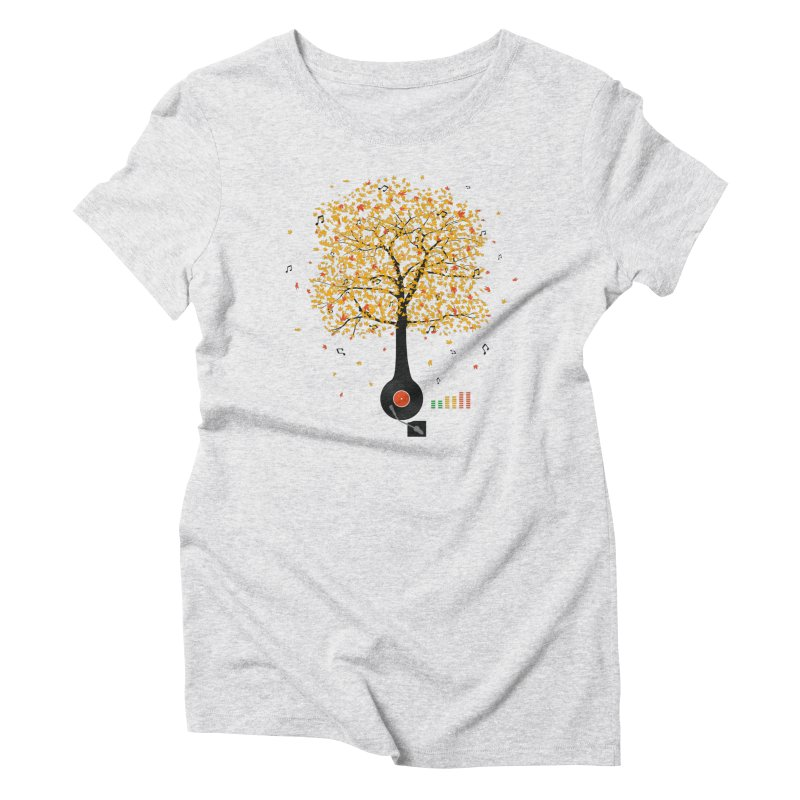 Sounds of Nature Women's Triblend T-Shirt by DavidBS